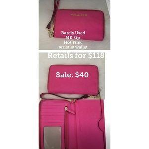 EUC Michael Kors Hot Pink Wristlet